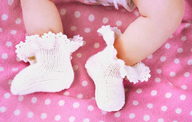 Vauvan valkoiset tossut