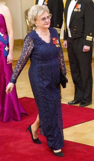 Laila Hirvisaari Linnan juhlissa 2015.