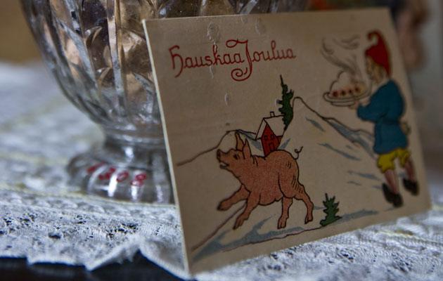 Vanhan ajan joulukortti