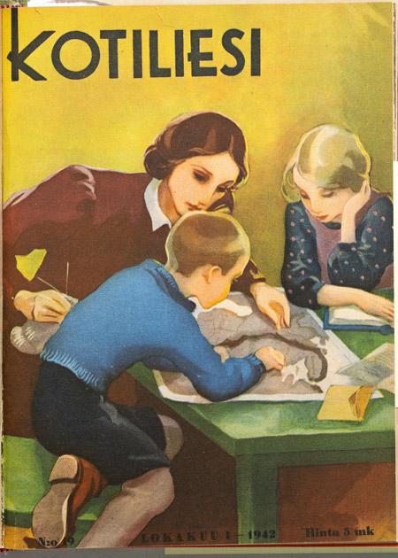 Martta Wendelin tekemä Kotilieden kansi
