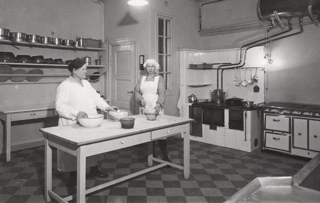 Presidentinlinnan keittiö 1931