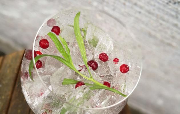 Talvinen Tuntematon-cocktail