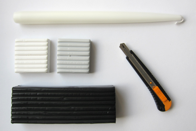 tarvikkeet polymeerimassasta tehtyihin kynttilänjalkoihin