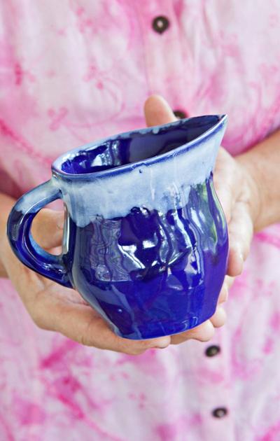Eilan äidin valmistama sininen kermakko
