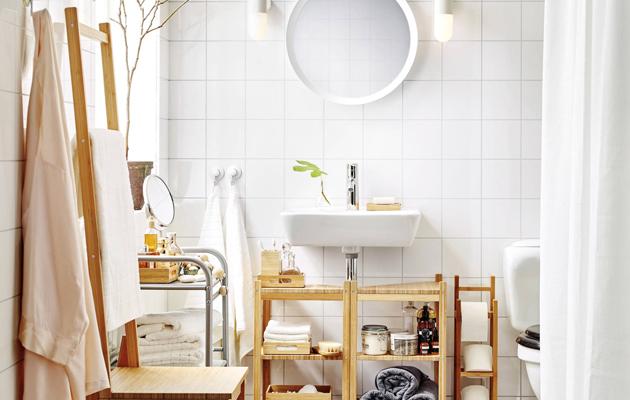 Inspiroidu vaalean kylpyhuoneen sisustuksesta