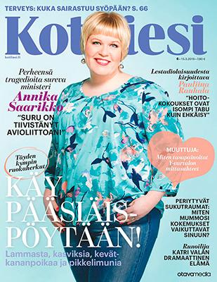 Kotiliesi 6/2018, kansikuva, Annika Saarikko