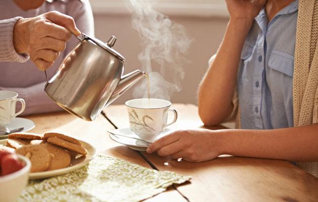 Vieraalle tarjotaan kahvia