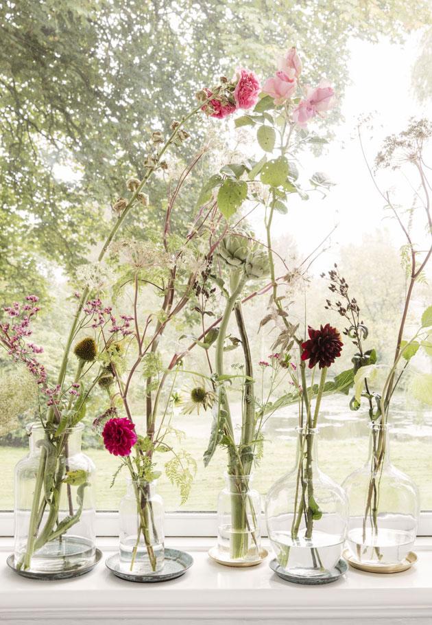 kukkia maljakoissa