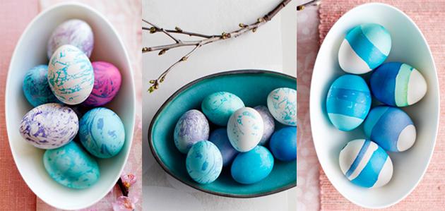maalatut kananmunat, marmorointi, vahatekniikka, pääsiäinen, askartelu, pääsiäismunat