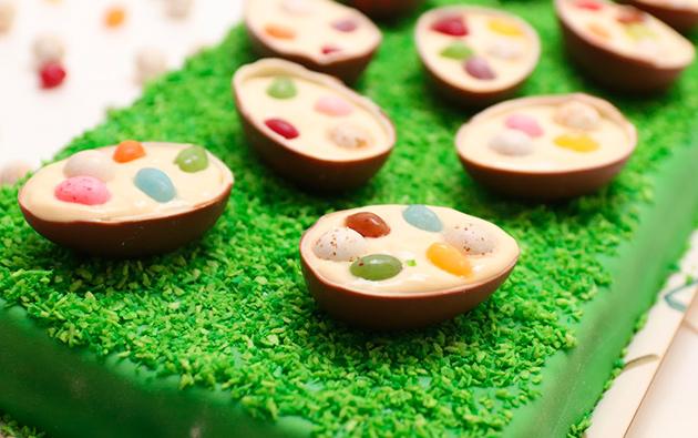 töhnämuna, töhnä-kinder, pääsiäinen, pääsiäisruoho, leipominen, ruoka, ruokaideat, pääsiäisherkut, kinder