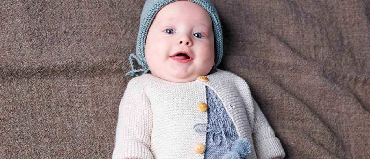 Kuva - Neulo kesävauvalle: suloinen body, myssy ja jakku merinovillasta