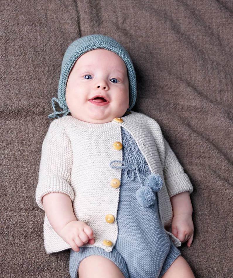 HArmaavalkoinen setti vauvalle
