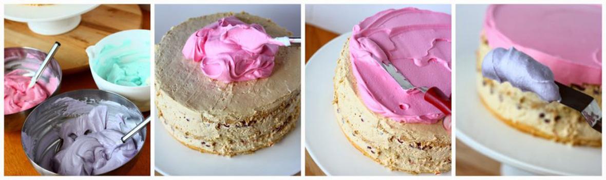 liukuvärjätty kakku