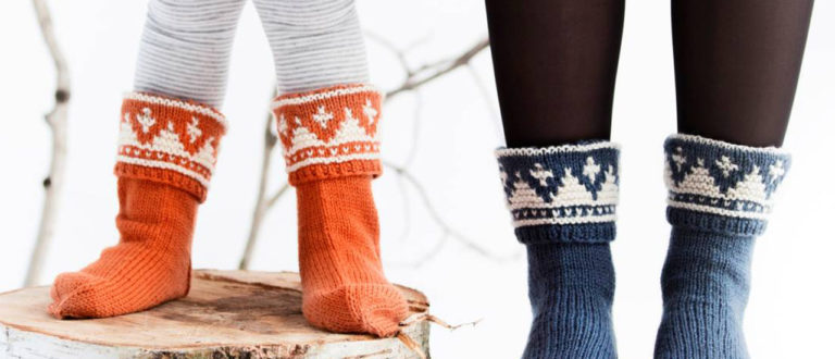 Norjalaiset villasukat koko perheelle