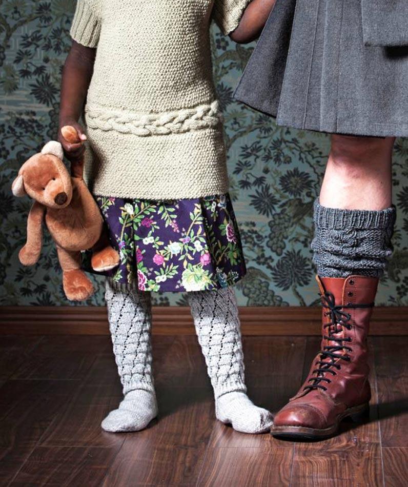 Harmaat Pitsi-villasukat lapselle
