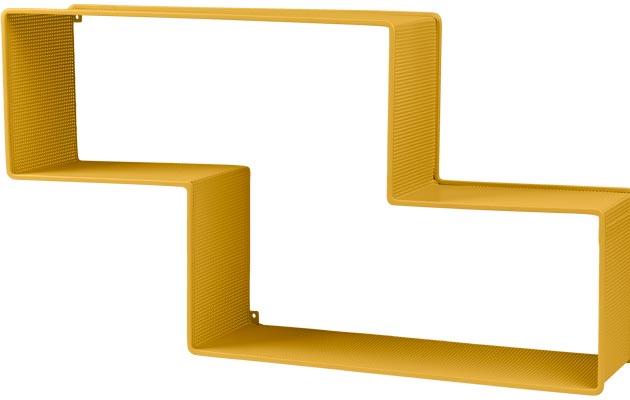 Dédal-hyllyä saa useissa väreissä. Keltainen on näyttävä valinta.