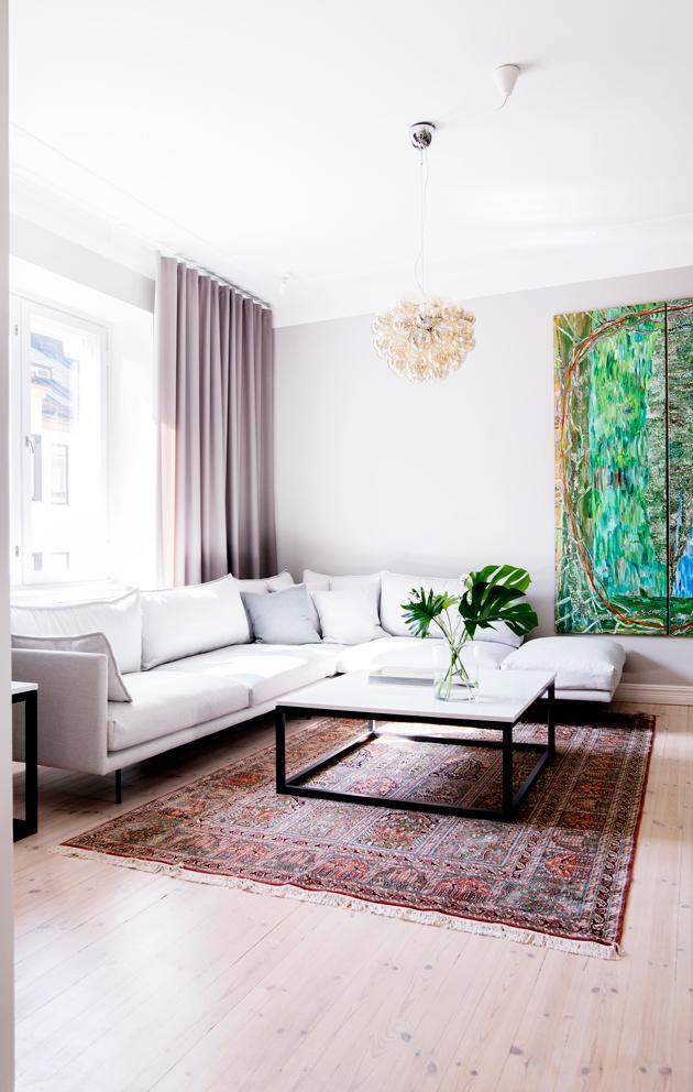 Vappu Pimiän kodin olohuone