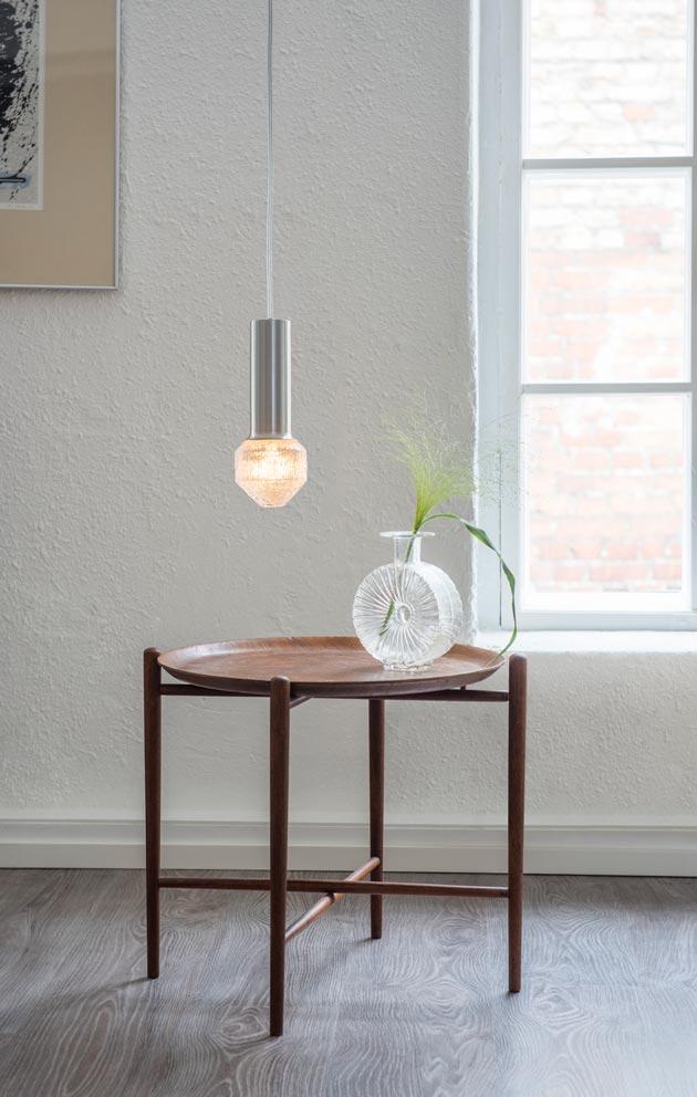 Tapio Wirkkalan suunnittelemissa valaisimissa inspiraation lähde on jäinen luonto.
