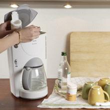 Kahvinkeittimen puhdistus ruokasoodalla