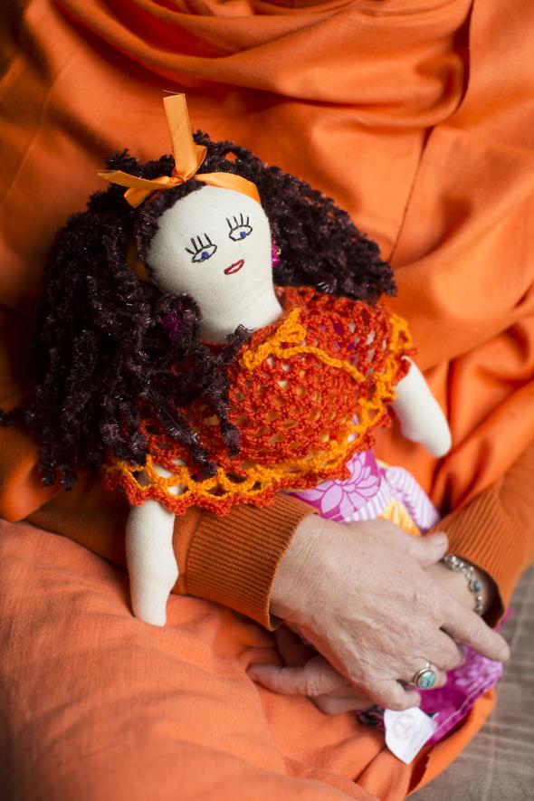 Ashramin naisten omepelema nukke, kuva: Kai Widell, copyright: Kai Widell