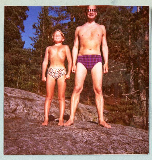 Heikki Haavikko isänsä Paavo Haavikon kanssa