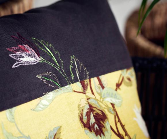 Kuva - Kirjo kukkatyyny