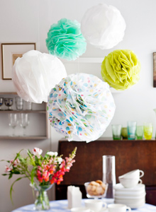 Kuva - Pom-pom-pallot silkkipaperista