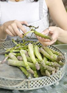 vihreän parsan valmistus