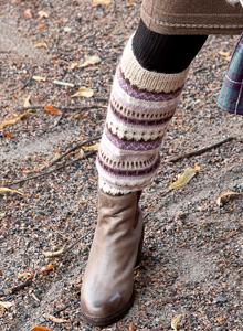 Pitkät villasukat tai säärystimet syntyvät samalla ohjeella.