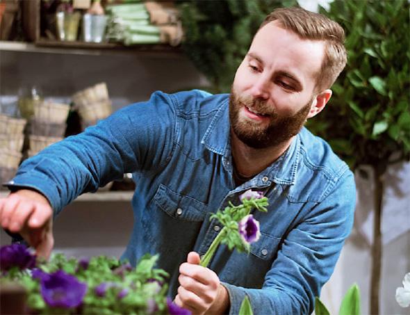 Tukholman kukkakaupoissa