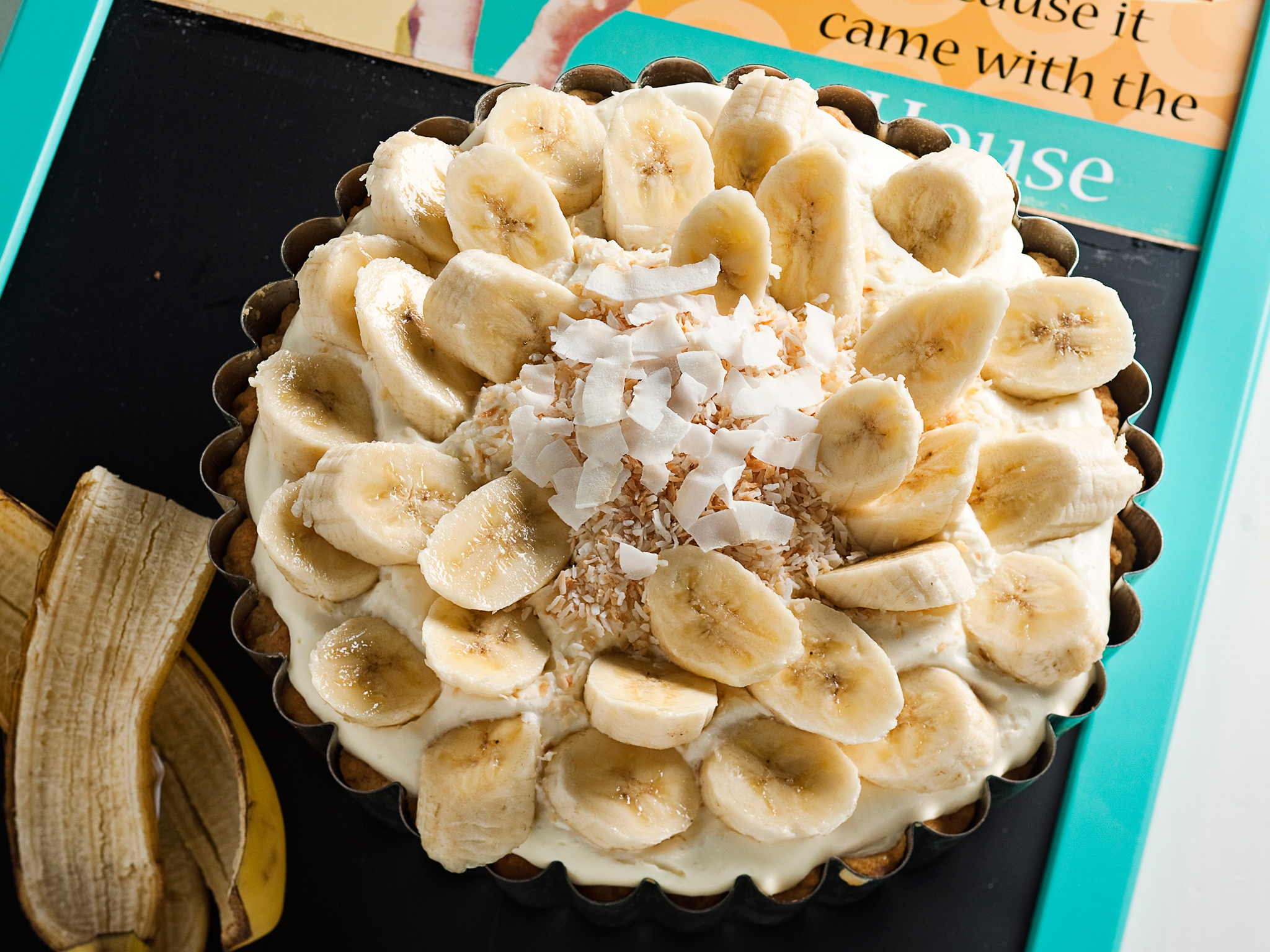 Banana cream pie -piiras