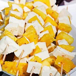 ananas-halloumivartaat