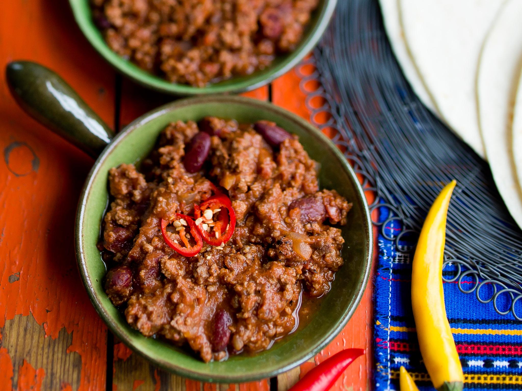 meksikolainen chili con carne