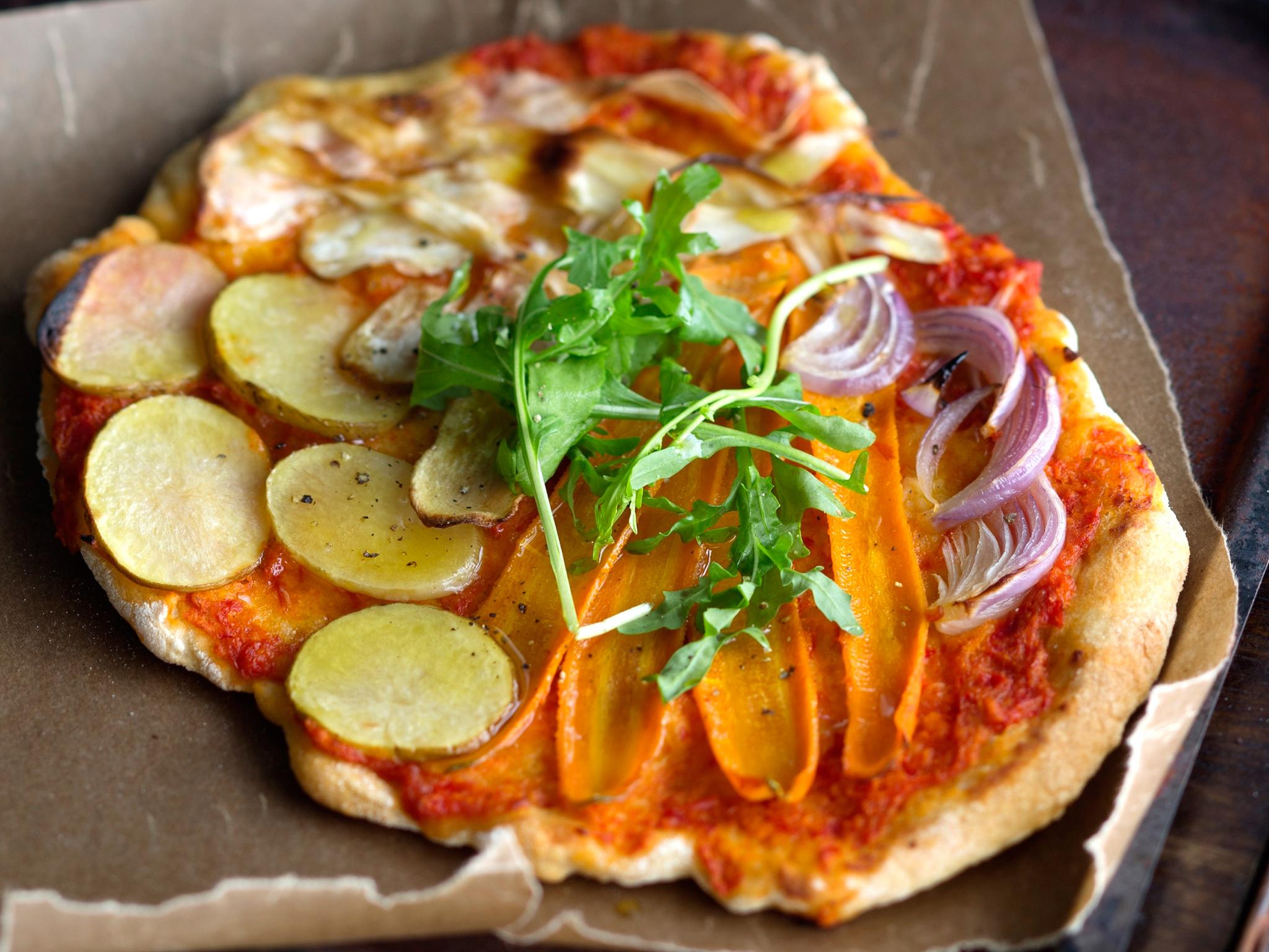 Kuva - Paahdettu kasviskastike pizzaan