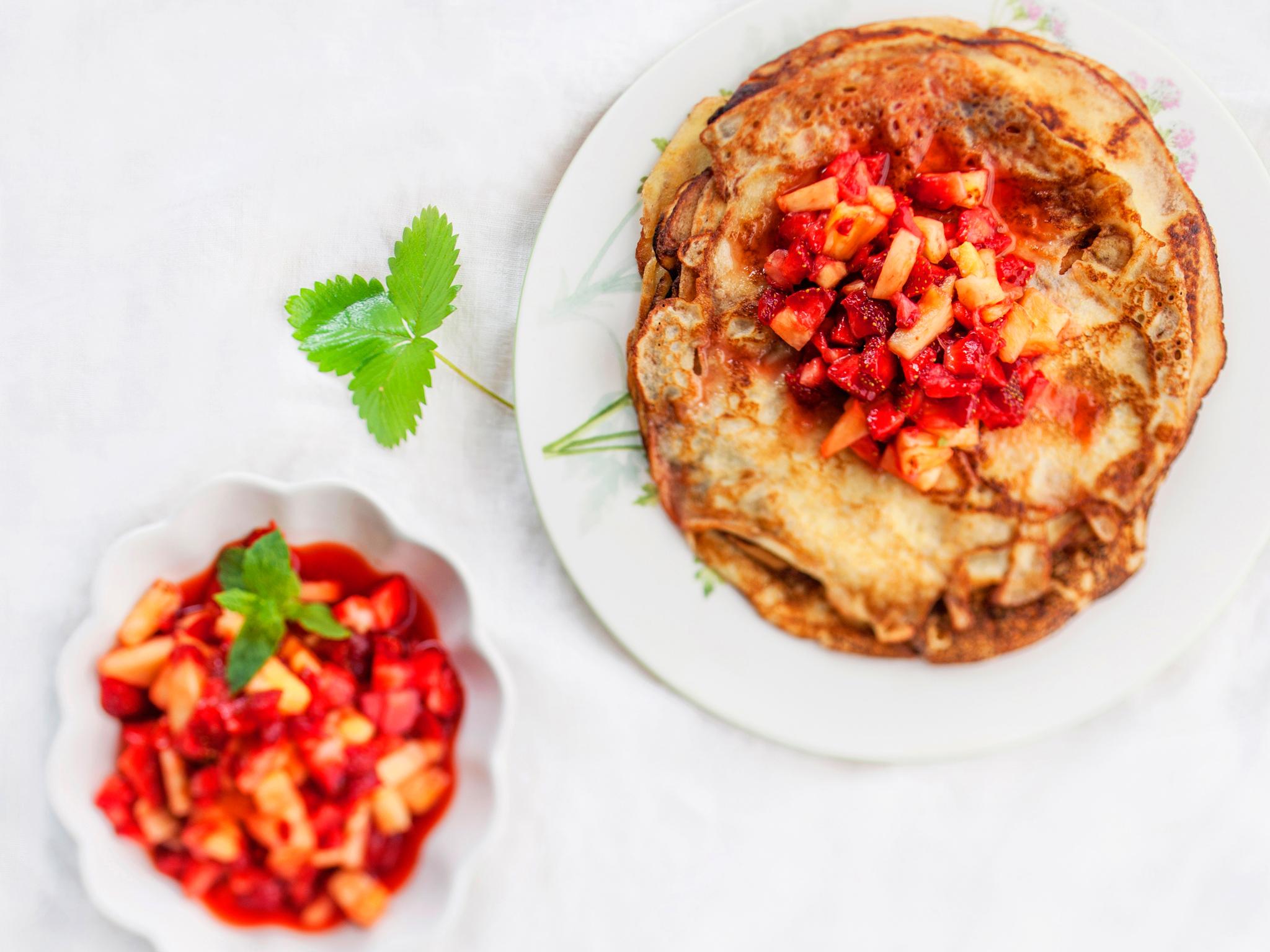 Kuva - Mansikka Tatin ja viisi  muuta helppoa jälkiruokaa mansikasta