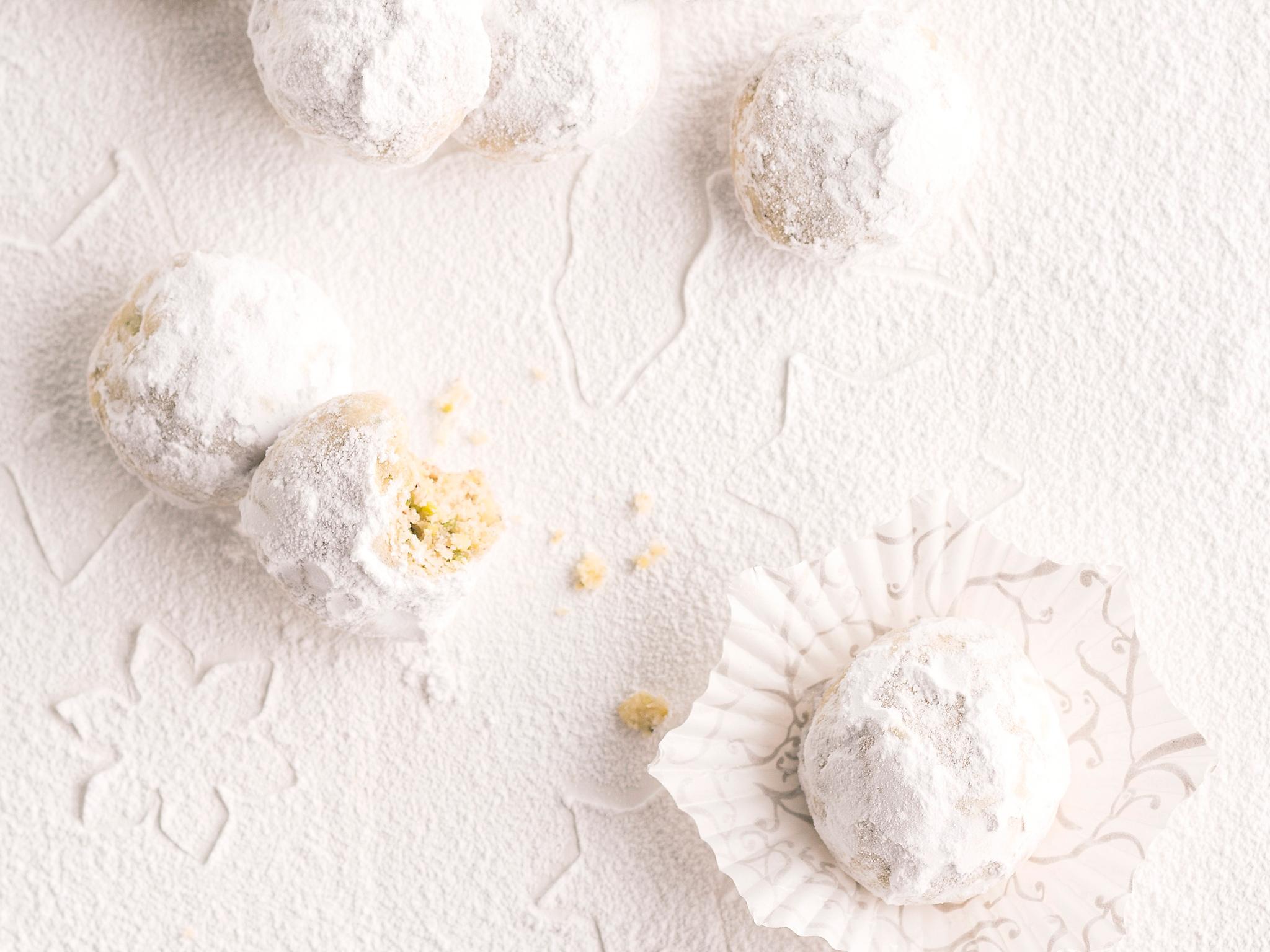 Kuva - Lumipallo-pikkuleivät