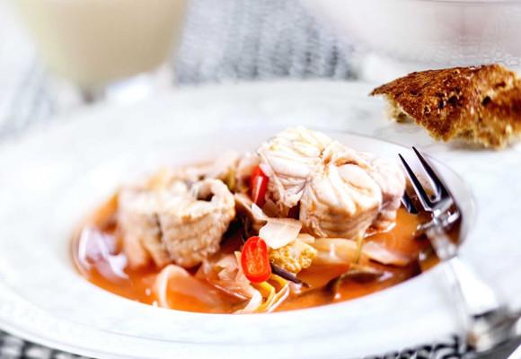 Bourride eli provencelainen kalakeitto