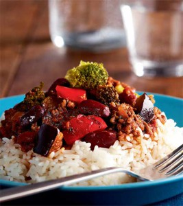 kasviksilla höystetty chili con carne