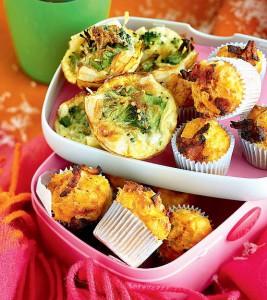 minikokoiset pekonimuffinit
